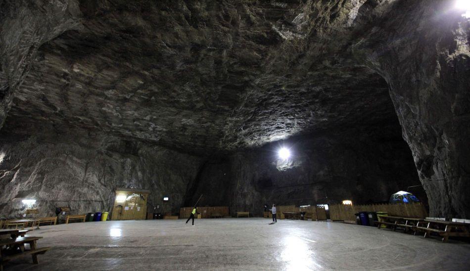 FOTOS: la mina de sal de Praid y diversión a 160 metros bajo tierra