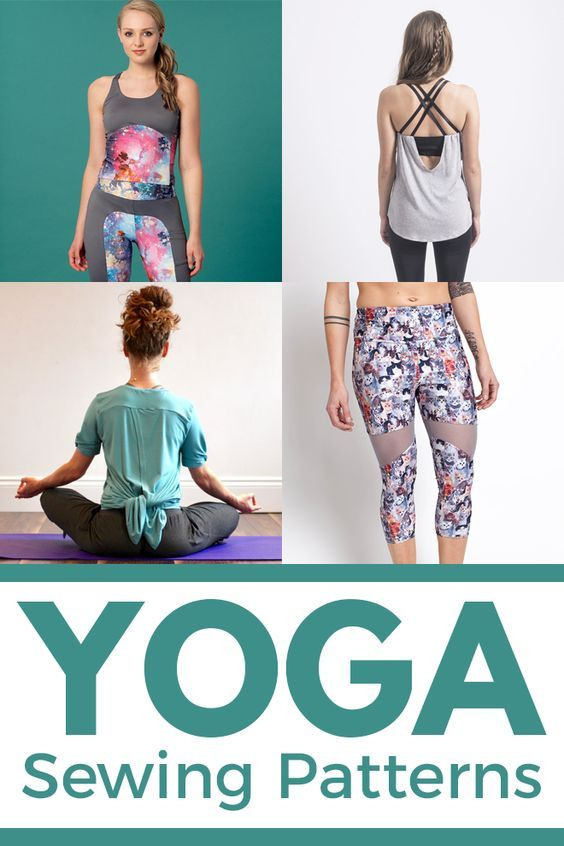 Sewing patterns for yoga clothes: 4 yoga sewing patterns, side by side   Sie Macht