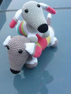 Teckel Haken Gratis Patroon Engels Bijgevoegd Crochet