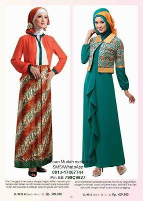 Gambar Model Baju Batik Gamis Kombinasi Terbaru Baju Muslim