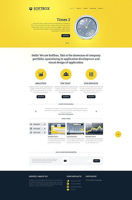 Web Development Responsive Website Template Pinterest Template - Web development company website template