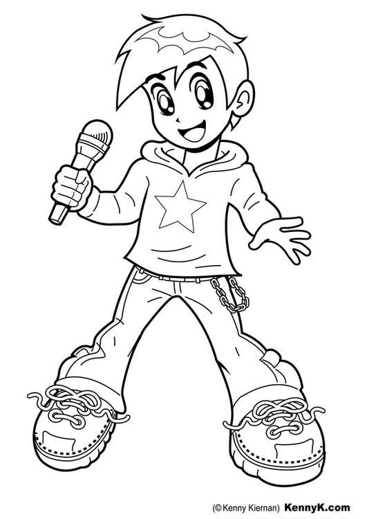 Coloring Page Singer Img 20084 Star Coloring Pages Coloring Pages Music Coloring