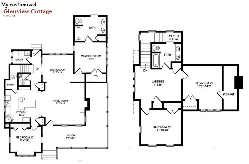 My Customized Glenview Cottage I M So In Love With This House New House Plans Small House Floor Plans Cottage House Plans