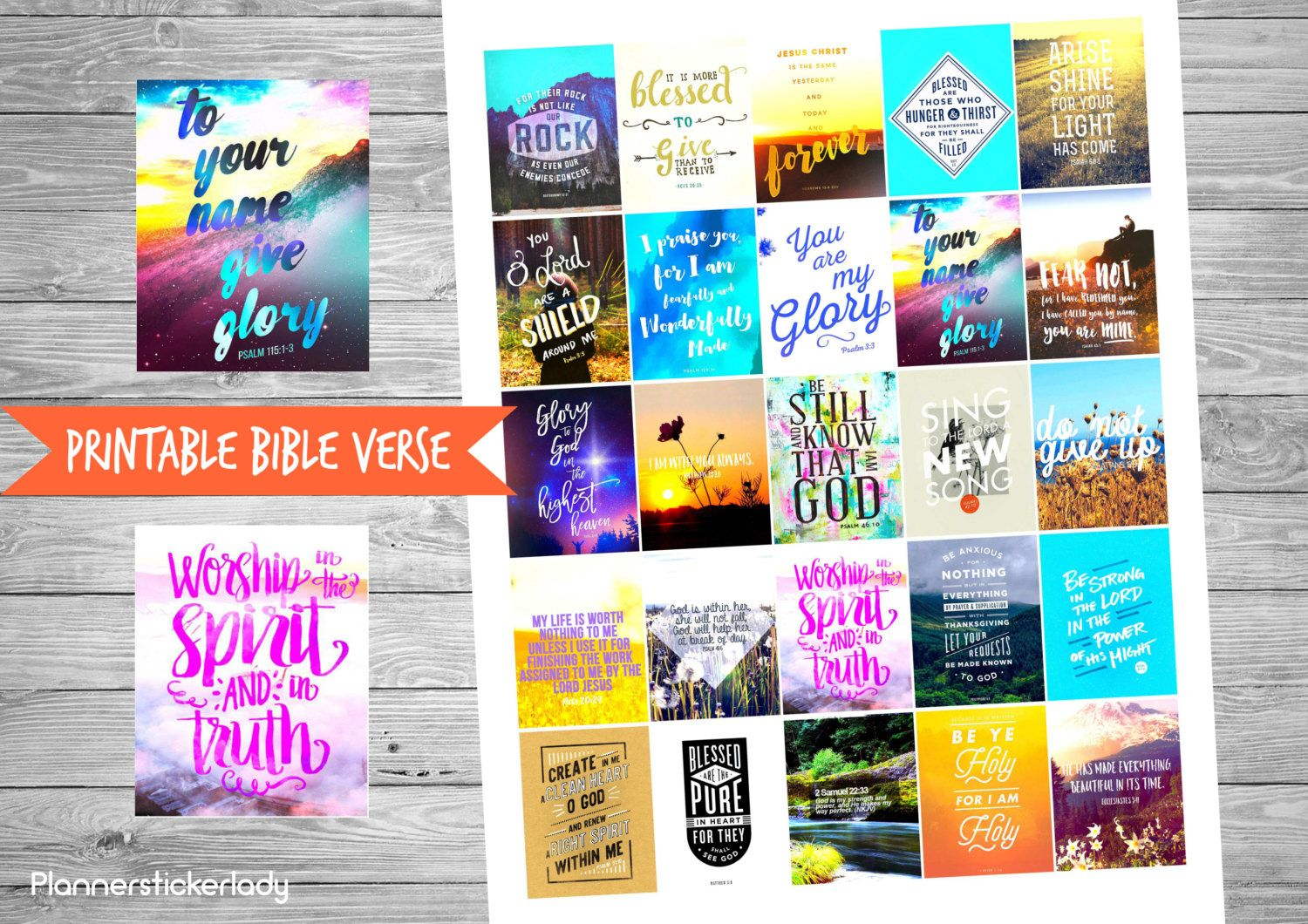 Printable Bible Verse #2 Erin Condren Planner Stickers by PlannerStickerLady on Etsy