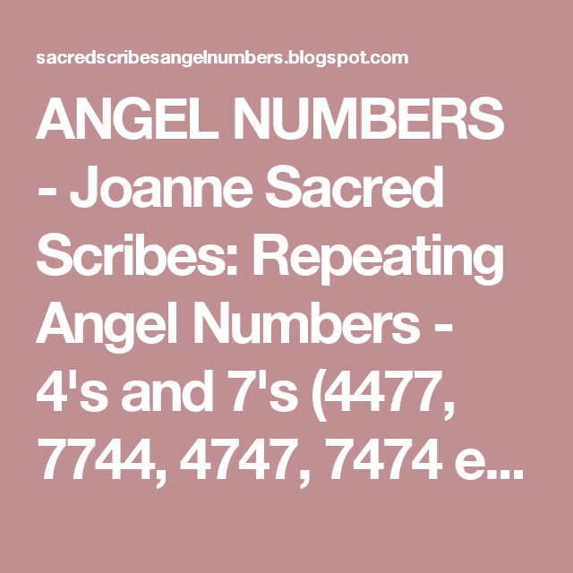 Recurring numbers 420 dating