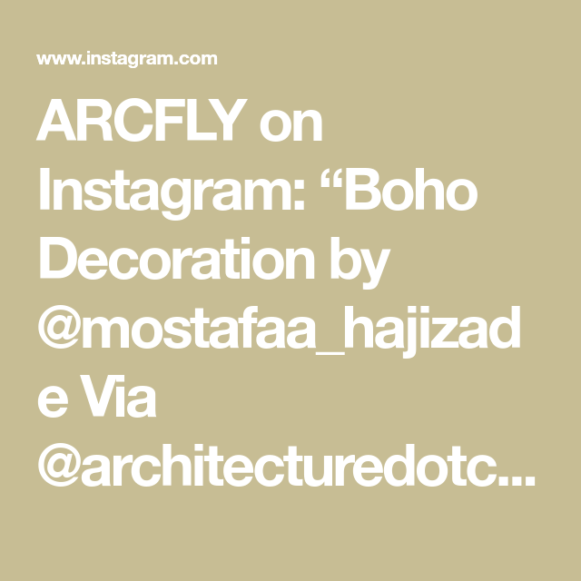 "ARCFLY on Instagram: ""Boho Decoration by @mostafaa_hajizade  Via @architecturedotcom  #archidesign #spatialdesign #archviz _______________________ . Use #arcfly…"""