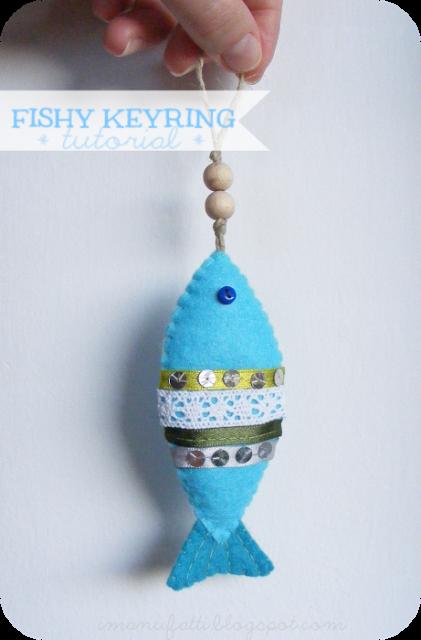 Fishy keyring tutorial & pattern