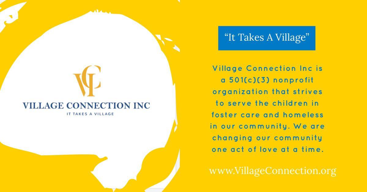 Village Connection Inc. 💙💛 fostercare donate nonprofit