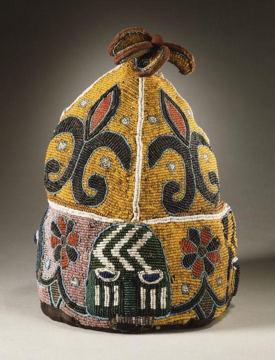 Yoruba Ade Oba (Orikogbofo) (King's Beaded Crown), Nigeria ...
