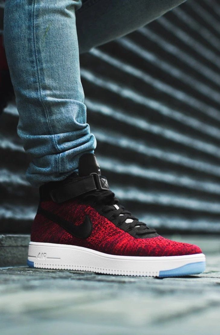 new concept 6bb09 35da0 Nike Air Force 1 Ultra Flyknit RedBlack