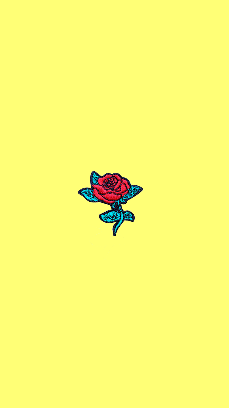 A Rose Is A Rose Is A Rose Iphone Wallpaper Yellow Yellow Wallpaper Pastel Background Wallpapers