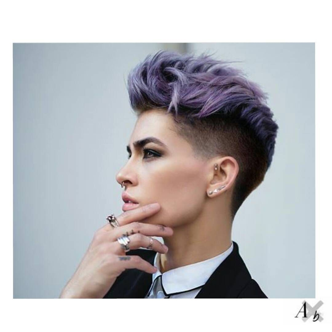 short hair color androgynous