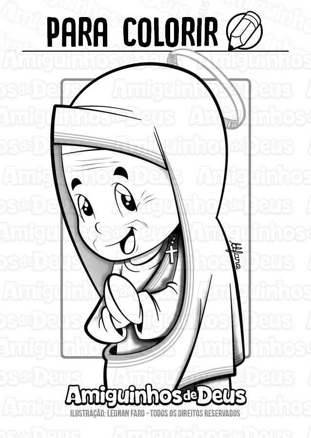 Santa Teresa De Calcuta Desenho Para Colorir Colorir Desenhos
