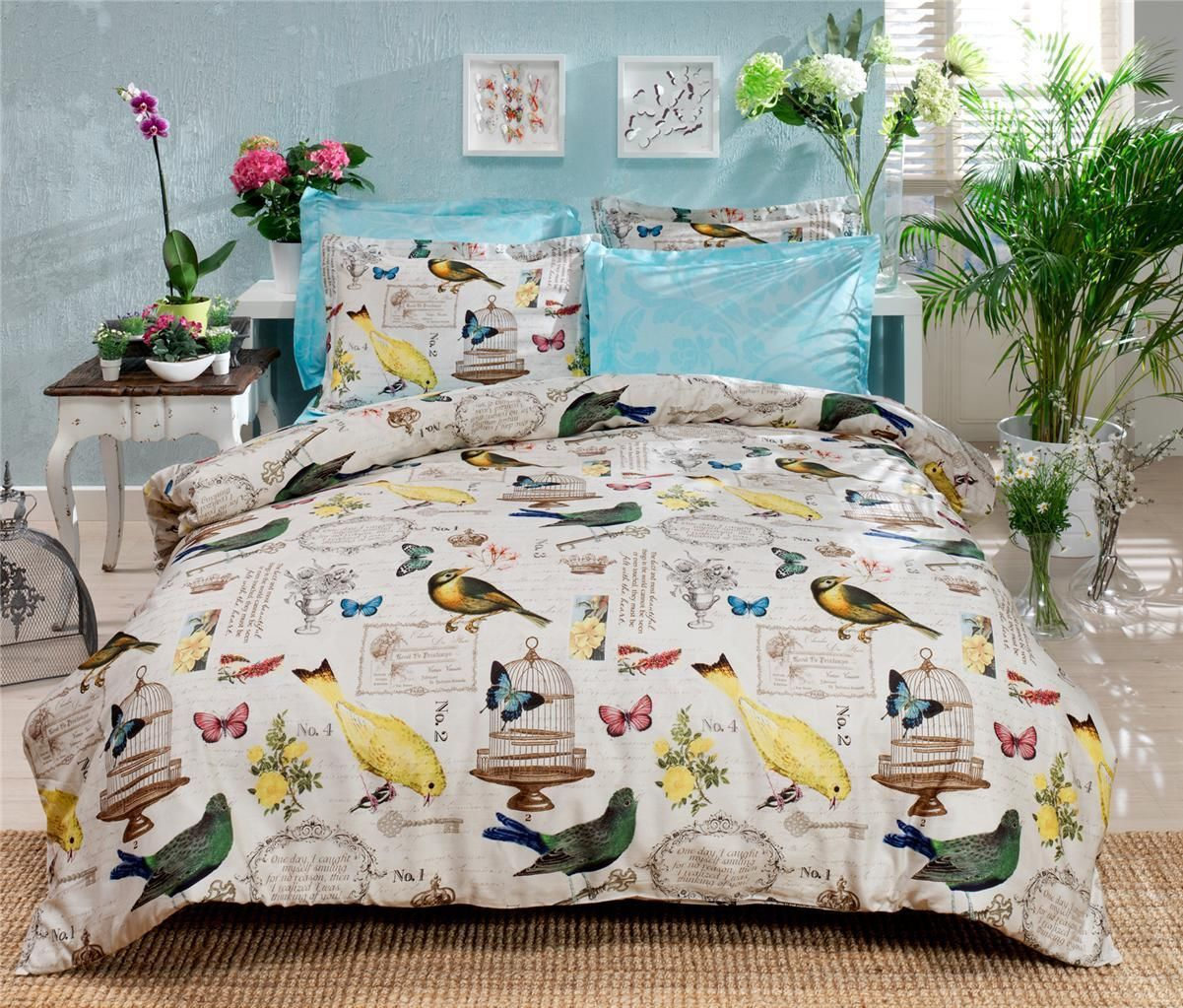 white bird this blue world covers beautiful birds cover sets duck table california out orange king set egg doona print dunelm top of uk cheap toddler size duvet feather vinyl