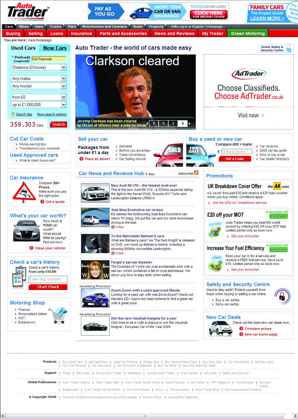 2008 AutoTrader.co.uk homepage | Auto Trader Heritage | Pinterest | Cars