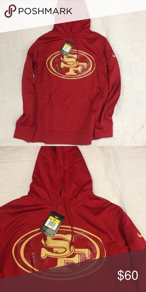 buy online 76f4b 3a65e San Francisco 49ers Nike Logo Hoodie Sweatshirt San ...