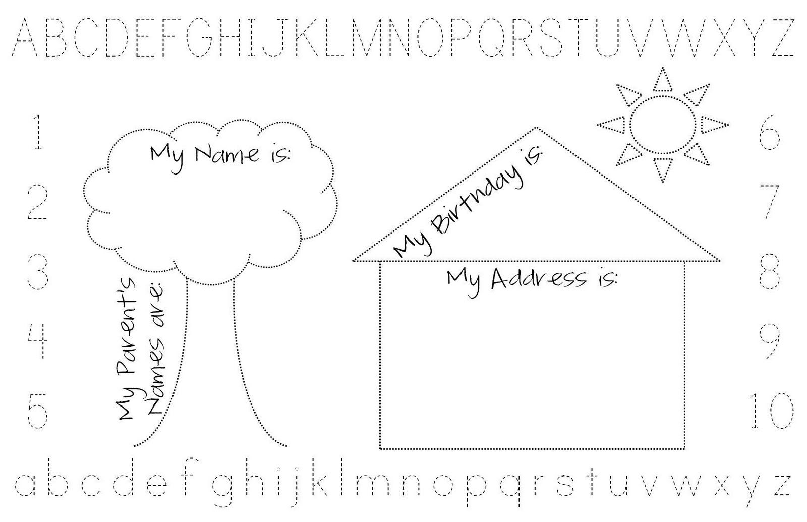 Happy Go Lucky Personalized Placemats Personalised Placemats All About Me Preschool Preschool Activities