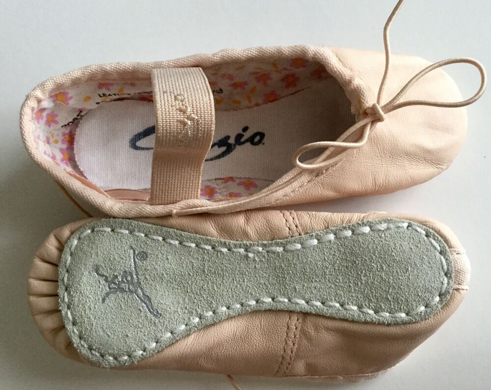 Capezio Daisy Full Sole Leather Pink Ballet Shoe Girls Style 205C