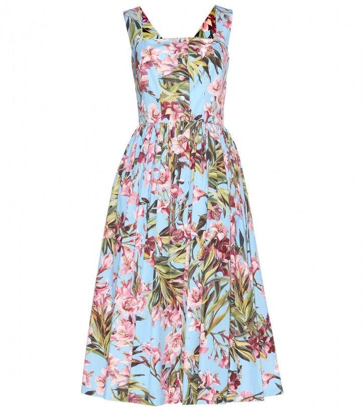 32dec5d4 Dolce & Gabbana Floral-print cotton dress on shopstyle.com | Stuff ...