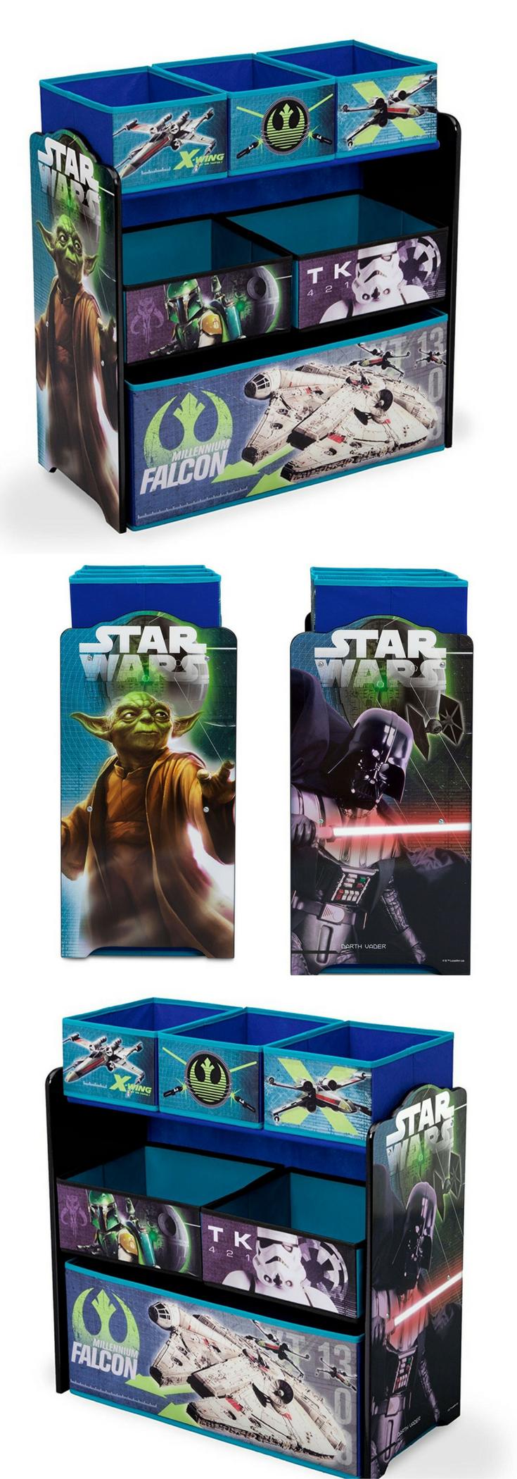 Star Wars Spielzeug Regal Mit 6 Stoffboxen Spielzeugkiste Fur Das