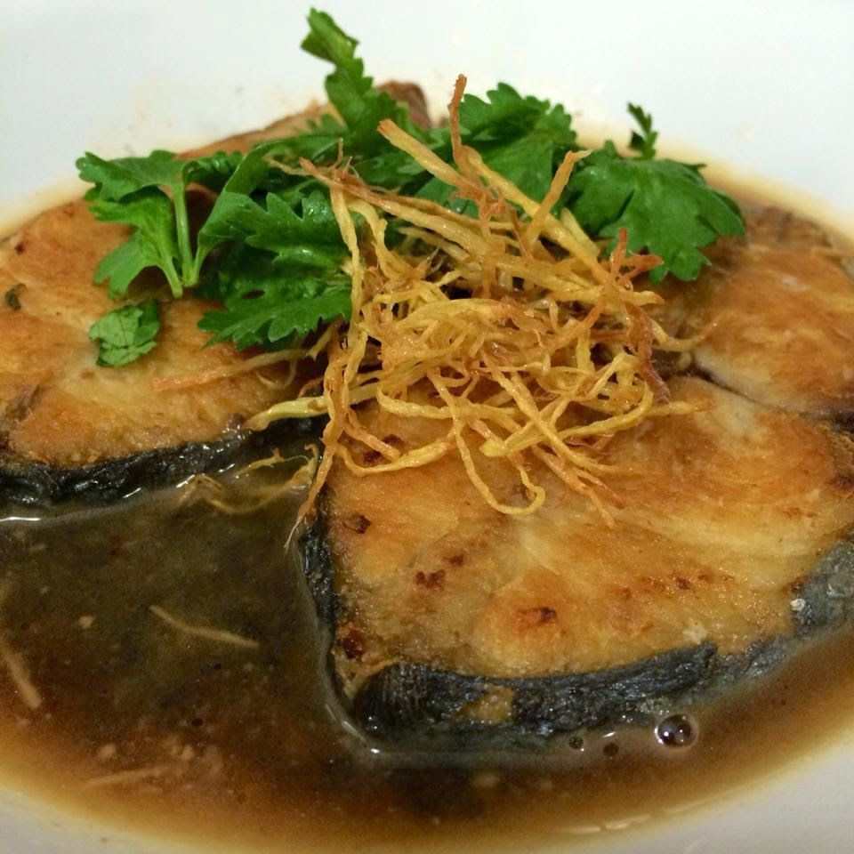 Singapore home cooks pan fried batang fish with fermented for Cooking with fish sauce