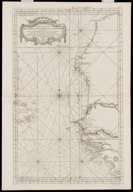 BELLIN (Jacques-Nicolas), Carte réduite des costes occidentale d'Afrique (1753, 1765)