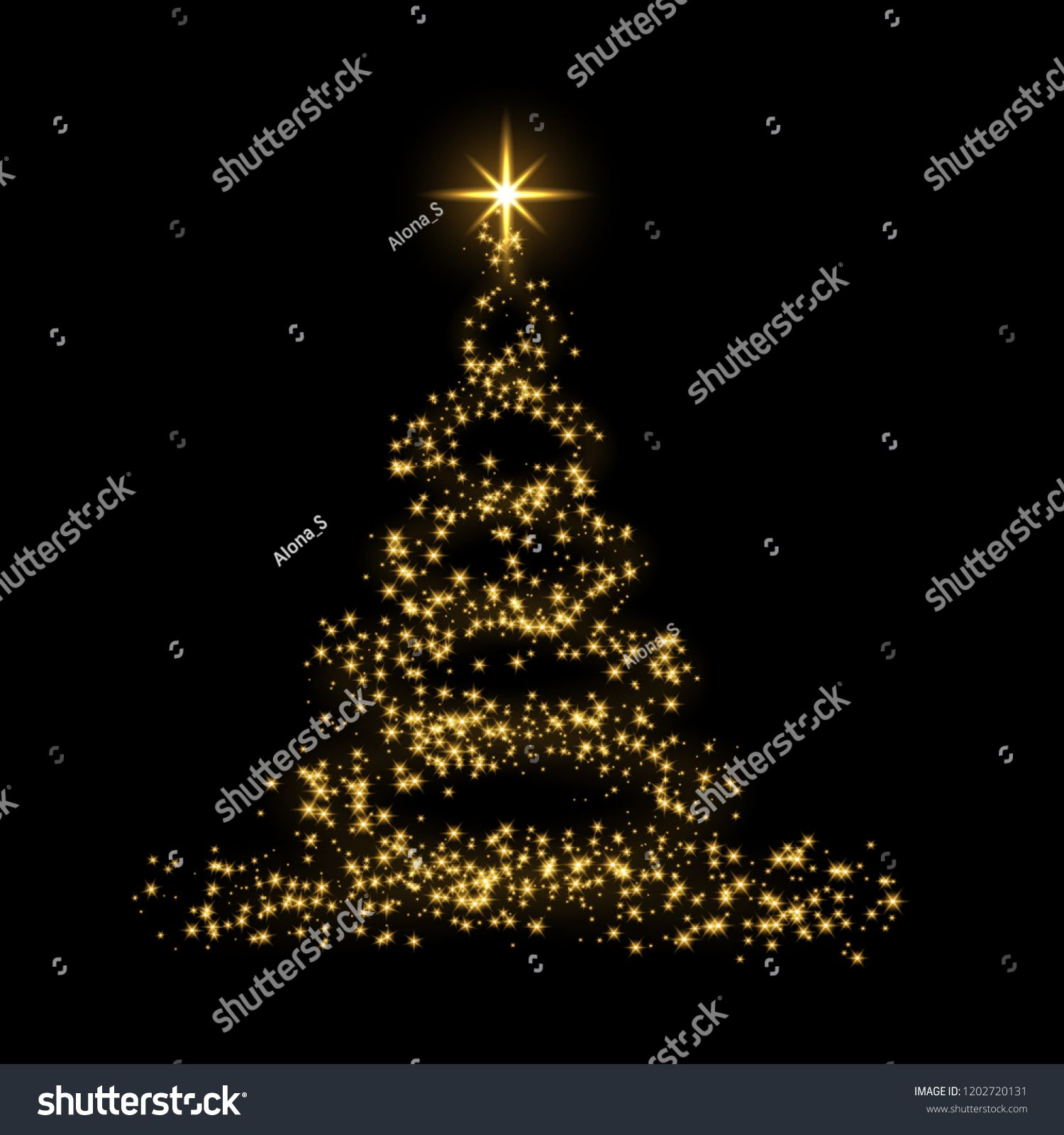Christmas Tree Card Background Gold Christmas Tree As Symbol Of Happy New Year Merry Christmas Holida Gold Christmas Tree Christmas Tree Cards Gold Christmas
