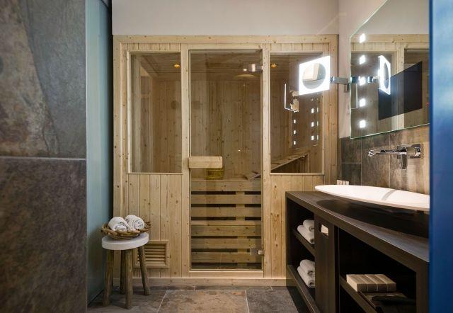 Badezimmer Sauna ~ Badezimmer sauna fichtenholz glastuer fenster badezimmer ideen