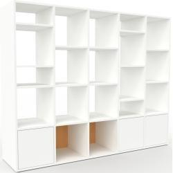 Photo of Regalsystem Weiß – Flexibles Regalsystem: Türen in Weiß – Hochwertige Materialien – 195 x 157 x 47 c