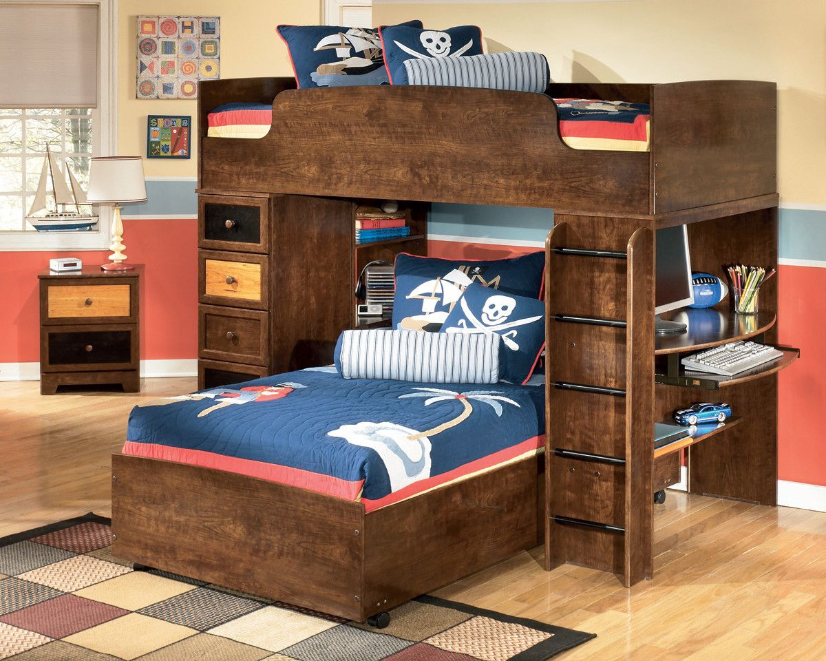 Bunk beds for boy kids - Boys Room Ashley Furniture Alexander Loft Bunk Bed Top