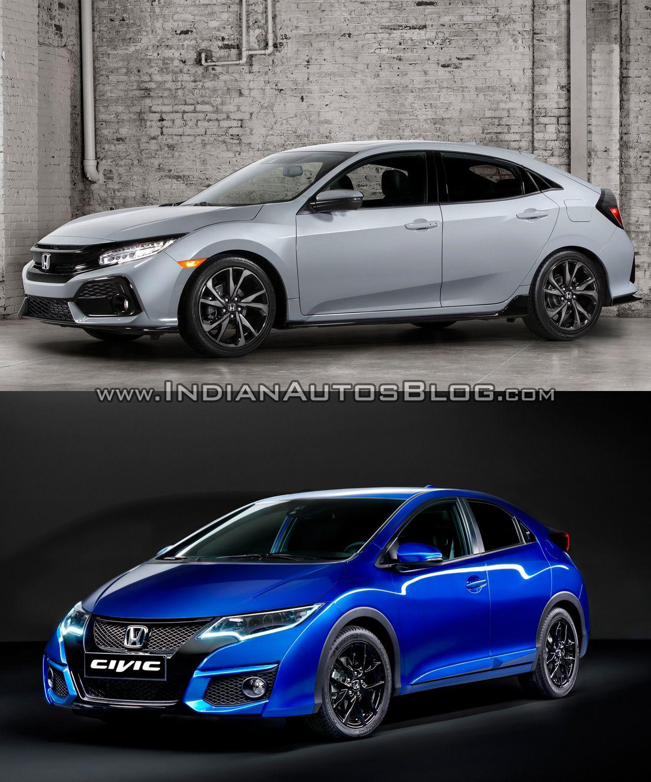 recap 2017 honda civic hatchback vs older model old vs new cars daily updated pinterest. Black Bedroom Furniture Sets. Home Design Ideas