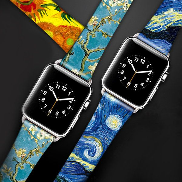 Van Gogh Apple Watch Band from Apollo Box Apple watch