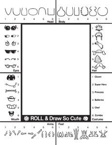 Creature Creator Activity Page Draw So Cute Cute Drawings Calendar Craft Creatures