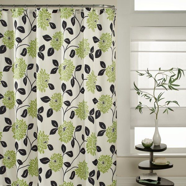 Shower Curtain Idea Bathroom Color Ideas Pastel Green And Black