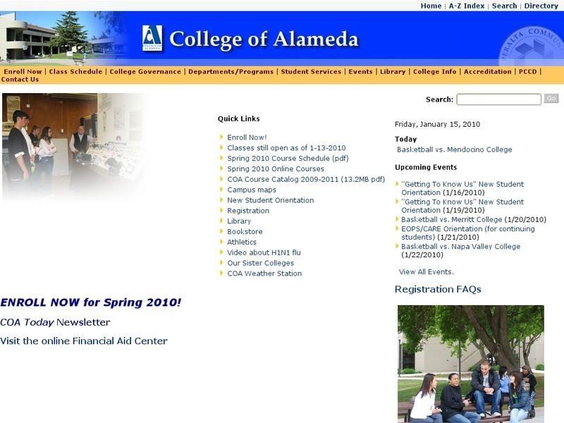 College Of Alameda College Alameda Class Schedule College