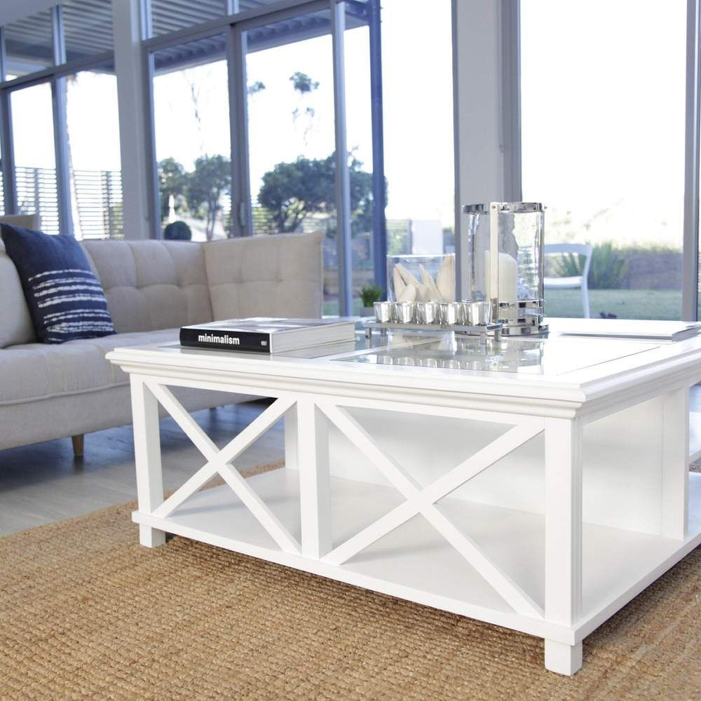 Sorrento Large Glass Coffee Table White Oneworld Collection In 2020 [ 1000 x 1000 Pixel ]