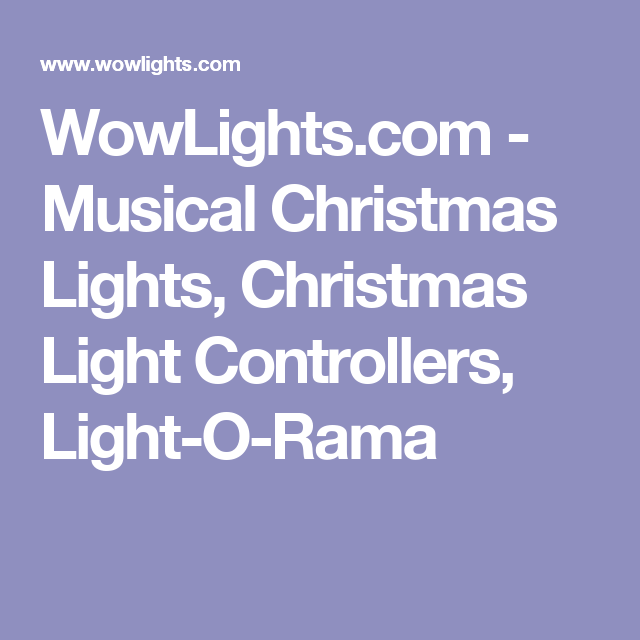 wowlightscom musical christmas lights christmas light controllers light o rama