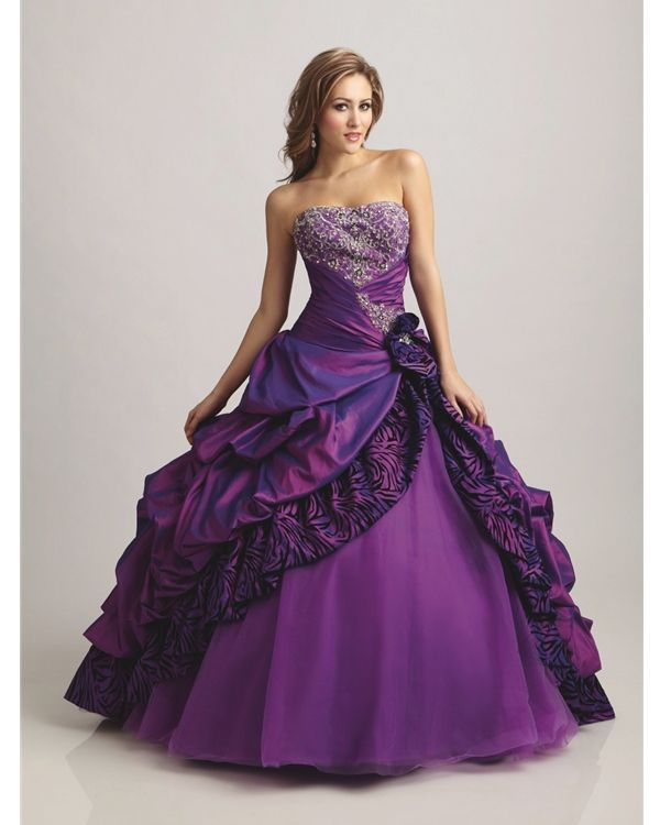 Brilliant Purple Wedding Dress Image Recent Selection