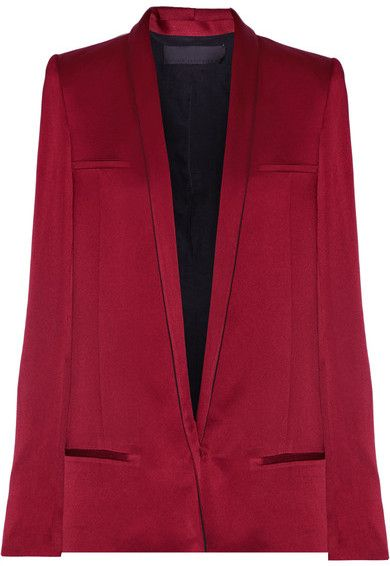Sale Largest Supplier Satin Blazer - Claret Haider Ackermann Cheap Sale Nicekicks Cheap Purchase Cheap Sale Fashion Style GbrmmH