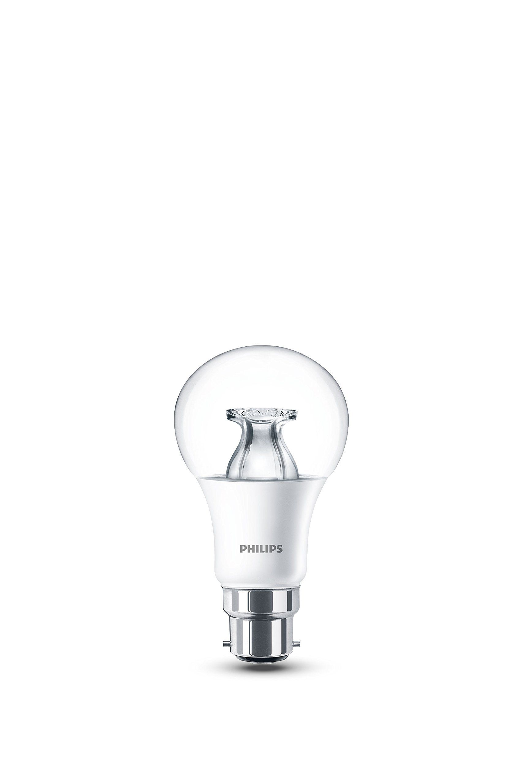 Philips Led Warm Glow B22 Bayonet Cap Dimmable Light Bulb 8 5 W 60 W Warm White Different Tones For Differen Philips Led Led Bulb Dimmable Light Bulbs