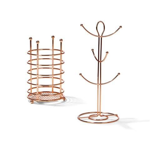 Copper Wire Mug Tree And Cutlery Holder Kmart Cutlery Holder Copper And Brass Mug Tree