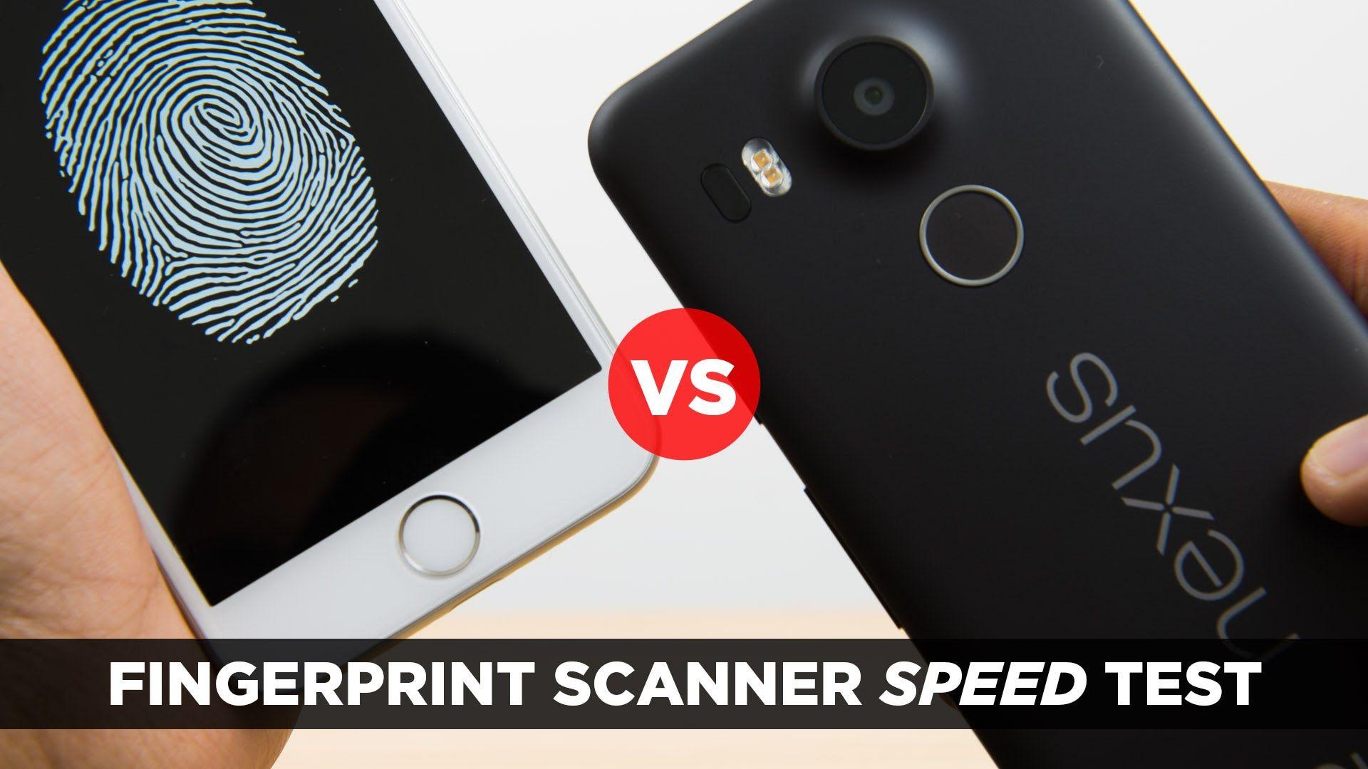 Nexus 5X vs iPhone 6s - Fingerprint Scanner Speed Test