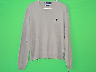 Polo by Ralph Lauren Men's Size XL 100% Cotton Gray Long Sleeve Sweater  #Deal #RalphLauren #Fashion #Menswear #Sweater #FreeShipping #XMAS #Christmas #CyberMonday2