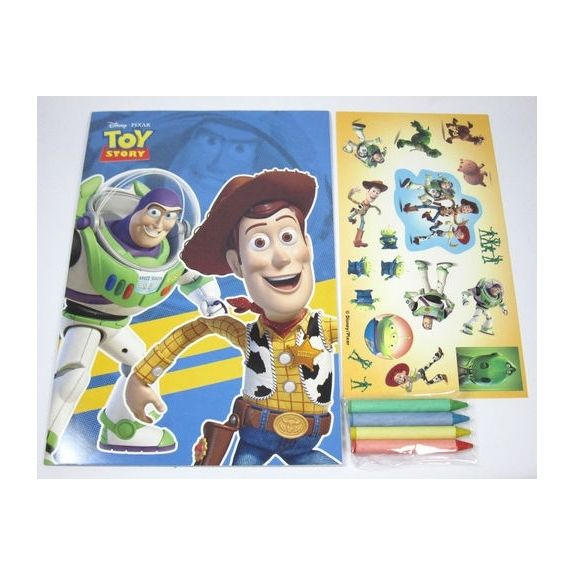 Disney Toy Story Colouring Book + Stickers \ Crayons Quiz Party Gift - new coloring book pages toy story