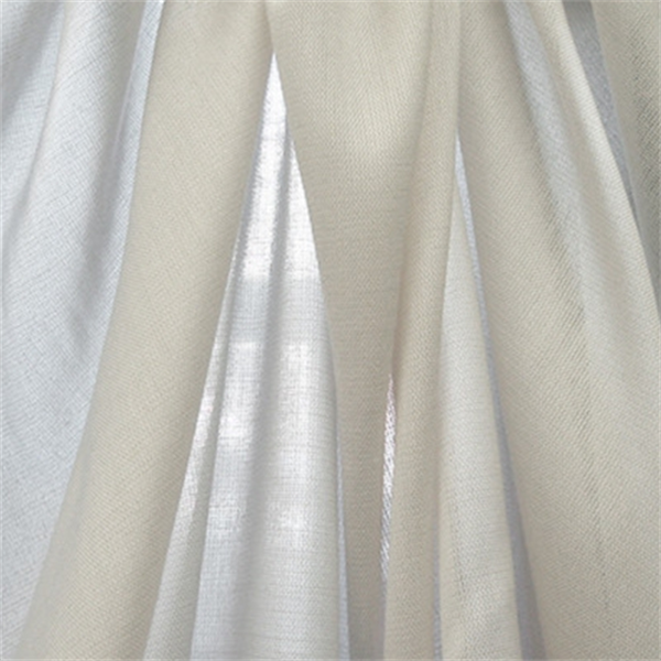 Verona White Linen Laundered Sheer Drapery Fabric 27737 Buy