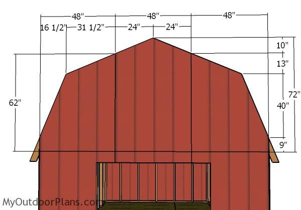 12 20 Gambrel Shed Roof Plans Diy Shed Plans