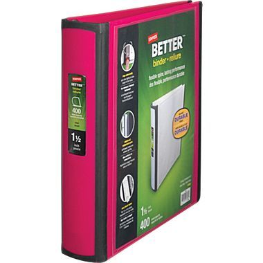Staples Better 1 5 Inch D 3 Ring View Binder Pink 13569 Cc At Staples Binder Big Binders Staples