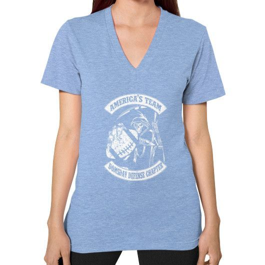 DOMSDAY DEFENSE CHAPTER V-Neck (on woman)
