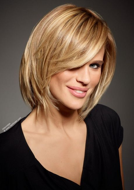 Frisur Mittellanges Haar Stufig Blonde Glam Pinterest Bobs