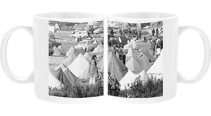 Photo Mug-Pop festival campsite-11oz White ceramic mug made in the USA#campsite11oz #ceramic #festival #mug #mugpop #photo #usa #white